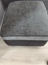 Black and grey storage foot stool (DFS)
