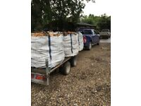 Dry seasoned hardwood logs for sale by 1m3