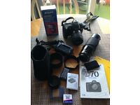 Camera Nikon D70 with lots of accessories
