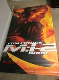 Mission Impossible 2 Cinema Poster / Banner in Vinyl - Double Sided - Rare
