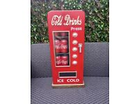 RETRO 1950s STYLE COLD DRINKS SODA POP MACHINE DVD/CD CABINET
