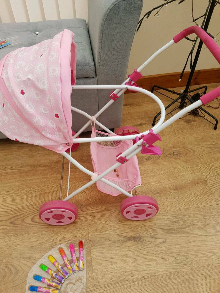 Girls toy pram