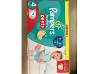 Pampers nappies and wipes