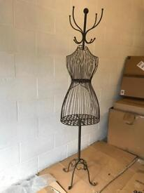 Vintage looking metal dress form mannequin coat stand /rack
