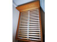 IKEA Malm Double Bed Frame (Oak Veneer)