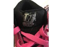 Pink womens Vans trainers