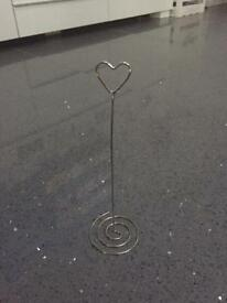 Heart picture or table number holders