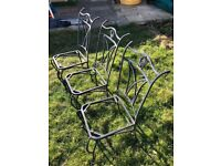 6 cast iron chairs