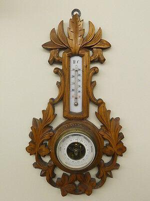 Jugendstil Wetterstation Barometer & Thermometer Frankenberg funktionstüchtig