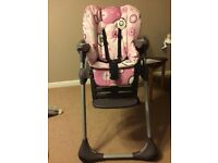 Chicco pink highchair