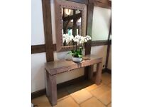 Lovely side table and mirror - bespoke made £60