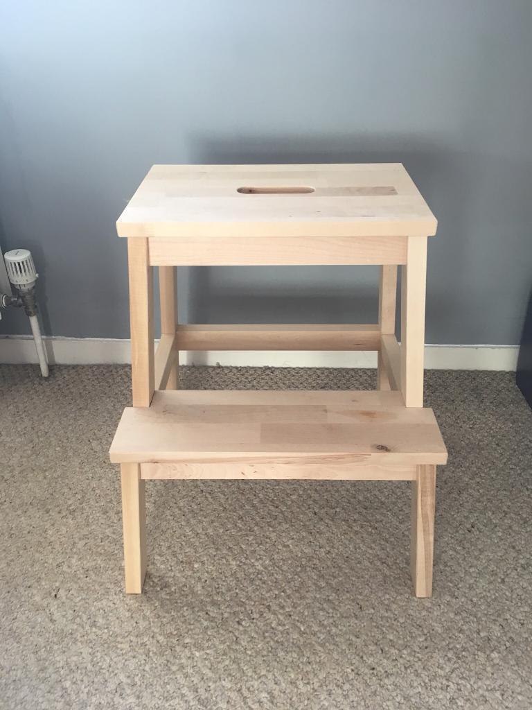 Pleasant 2 X Ikea Bekvam Step Stools Birch Unpainted In Woodstock Oxfordshire Gumtree Machost Co Dining Chair Design Ideas Machostcouk