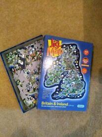Jig map Jigsaw 150 pieces.