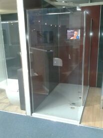 Ex display , quality Shower Enclosure + tray 2000 mm/ 1000mm