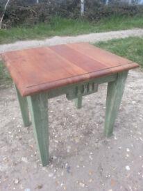 Upcycled, shabby chic, hardwood table.
