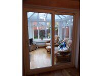 Upvc double glazed sliding patio doors