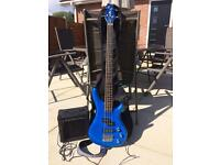 CCB90 Bass Guitar with amp