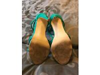 Gorgeous high heeled green shoes