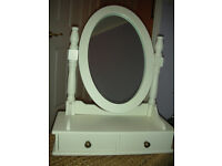White small dressing table with mirror