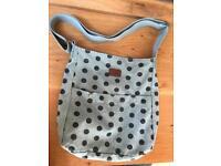 Blue polka dot bag