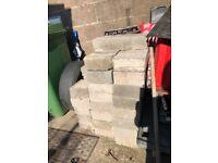 brand new conrete blocks, 17 full, 12 halves, in tremorfa