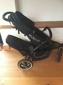 Phil and Teds black double buggy in excellent condition