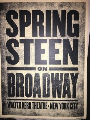 BRUCE SPRINGSTEEN ON BROADWAY POSTER - Ltd Ed to 2000
