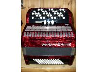Weltmeister, As New, 72 Bass, 2 Voice, 5 Row, C System, Chromatic Accordion.