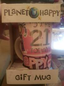 21st key and mug