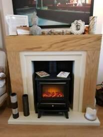 Adam Electric Stove Fireplace Suite