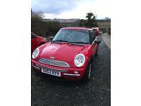 Mini One red 3 door 1.6 hatchback