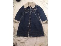 LADIES DENIM AND WOOLEN JACKET PLEASE SEE PICS SIZE 10/12