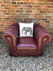 Lovely club leather Chesterfield armchair. Can deliver