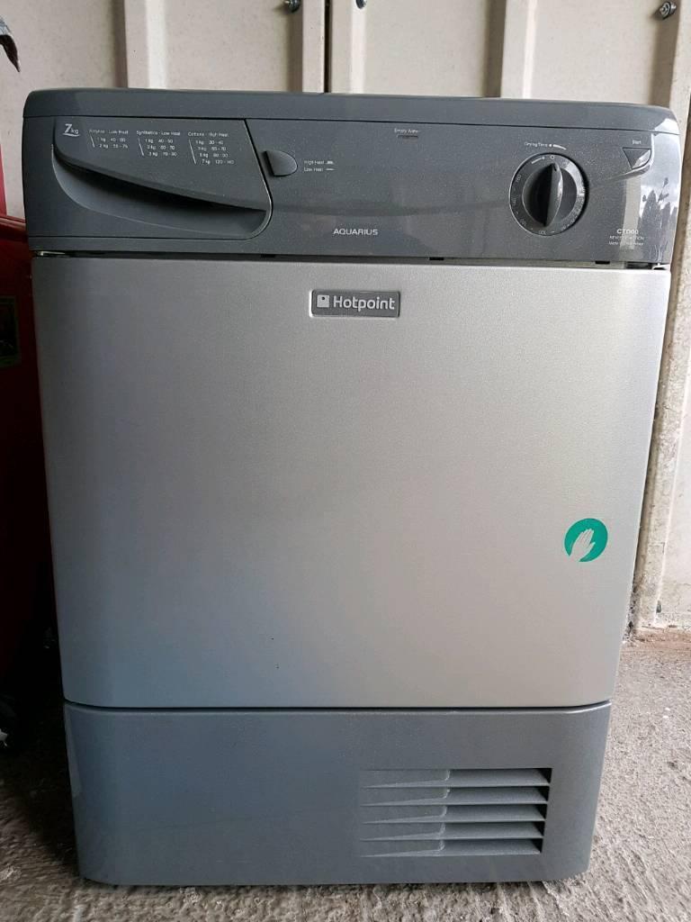 7kg Hotpoint condenser tumble dryer.