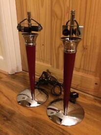 Pair of modern stylish lamp bases