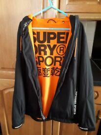 Superdry coat. Black/orange XL boys/small mens
