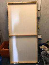 Free : wooden canvas frame. Suitable for artist?