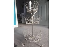 Afternoon Tea Cream Wire Cake Stand