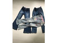 Bundle (3 pairs) of girls jeans 6, 7, 7-8. (Old Navy, H&M still has label on!)