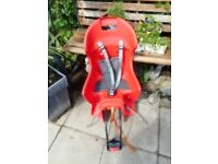 childs red back seat for adults bike