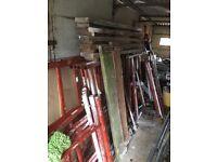 Steel scaffolding/tower