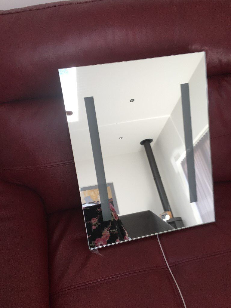 Illuminated bathroom mirror with shaver point | in Skelmorlie, North ...