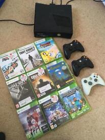 XBOX 360 with 9 Games & 3 controllers
