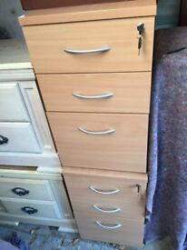 2 beech cabinet