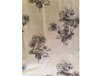Next grey patterned full length curtains