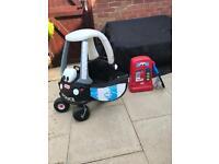 Little Tikes police car & petrol pump