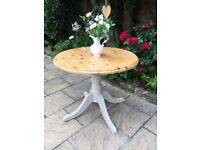 Solid Pine Country Style Painted Pedestal Dining Table