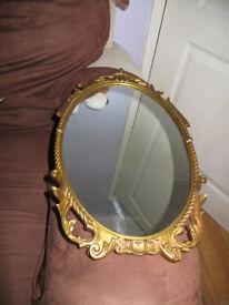 Vintage mirror,gorgeous ornate mirror with gilt frame