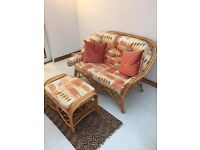 Conservatory furniture sofa, chairs x2 and foot stool