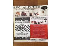 Light plant hire